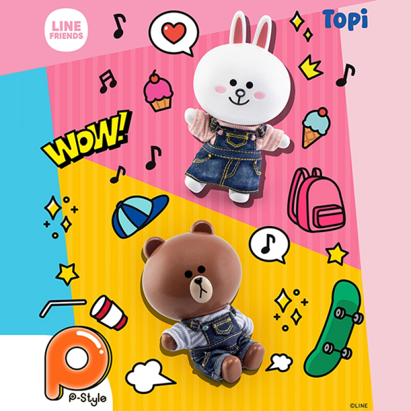 [P-Style] LINE FRIENDS - BROWN and CONY Casual Version