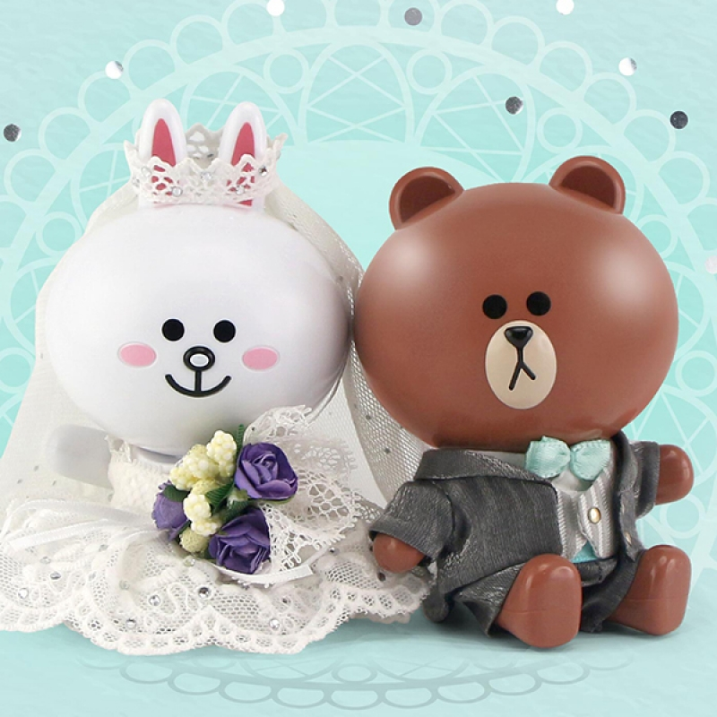 [P-Style] LINE FRIENDS - BROWN and CONY Wedding Version